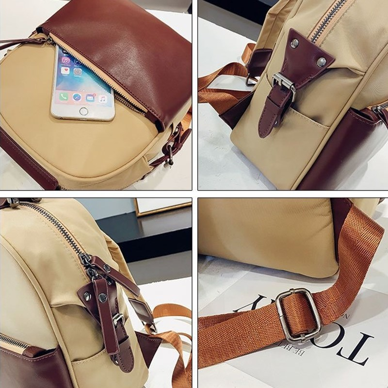 Miyahouse Fashion Panelled Color Woman Backpack High Quality Pu Leather Lady Rucksack Casual Travel Bag For Teenage Girls #5