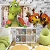 Custom Photo Wallpaper 3D Cartoon Cute Dinosaur Brick Wall Children Room Bedroom Background Wall Decor Mural Wallpaper Kids 2