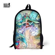 Cartoon Backpack Girls Anime Patterns Prints School Bags 16 Inch Primary Children Backpacks Mochila Escolar Menina