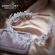 Handmade Sparkling Crystal Wedding Bride Flower Tiara Coroa Headband Bridal Women prom Crowns KopoHa Bijoux Cheveux Accessories