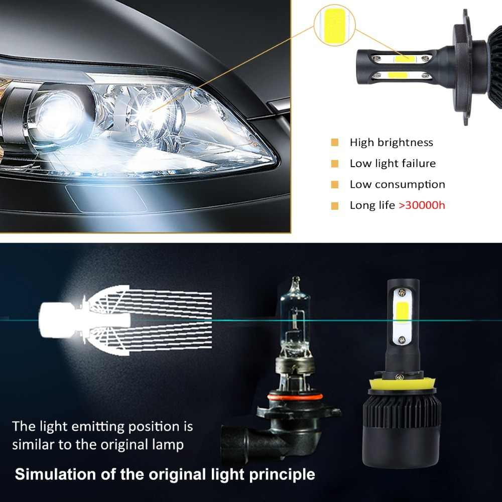 Avacom 2 Pieces H4 HS1 Motorcycle Headlights Bulb 12V 6500K 8000Lm H1 H3 H7 H11 LED Lights For Motorbike Scooter Moto