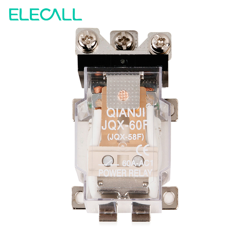 ELECALL Brand New 1Piece JQX-60F 1Z 60A AC220V Power Relay Coil Electromagnetic Relay смартфон apple iphone 6s розовое золото 4 7 32 гб wi fi gps 3g lte nfc mn122ru a