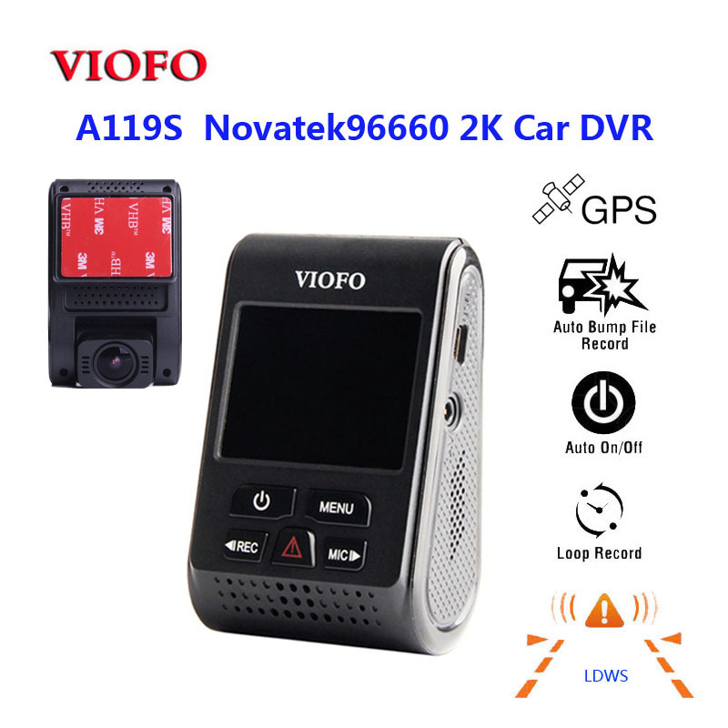 Original VIOFO A119S V2 2 0 LCD Capacitor Novatek 96660 HD 2K 1440P Car Dash video