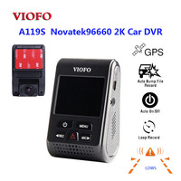 Original VIOFO A119S V2 2.0 LCD Capacitor Novatek 96660 HD 2K 1440P Car Dash video recorder DVR Optional GPS CPL Filter