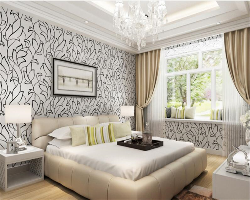 background bedroom living dimensional three 3d beibehang woven non modern tapety paper wall