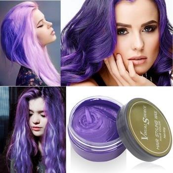 Nowe Mody 5 Kolor Farbowania Włosów Wosk Kolor Włosów Jedno-czas Formowania Wklej Srebrny Szary Jednorazowa Włosów barwnika Gorąca Sprzedaż