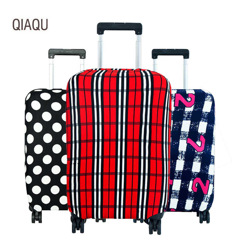 QIAQU Fashion Travel Luggage Cover Luggage Protector elasticity Suitcase Protective Covers for 18-30 inch Trolley Case Dust case
