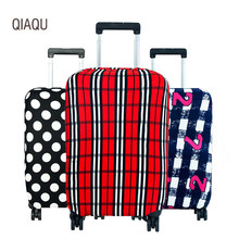 QIAQU Fashion Travel Luggage Cover Luggage Protector elasticity Suitcase Protective Covers for 18-30 inch Trolley Case Dust case(China)