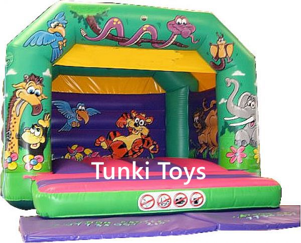 inflatable jungle theme bouncer house jumper in playground from