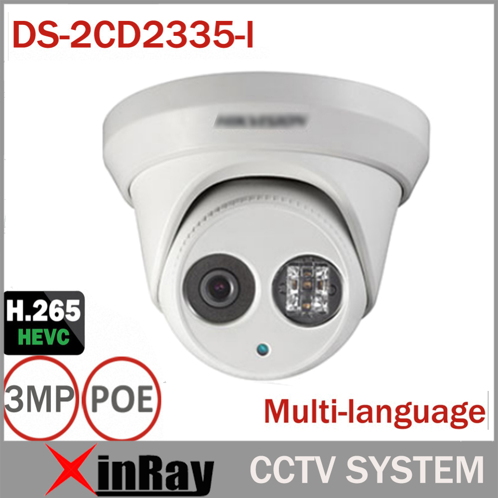 Hikvsion 3MP IP POE Camera DS-2CD2335-I Replace DS-2CD2332-I ONVIF Infrared Camera  Metal Body CCTV IP Camera with 6mm Lens newest hik ds 2cd3345 i 1080p full hd 4mp multi language cctv camera poe ipc onvif ip camera replace ds 2cd2432wd i ds 2cd2345 i