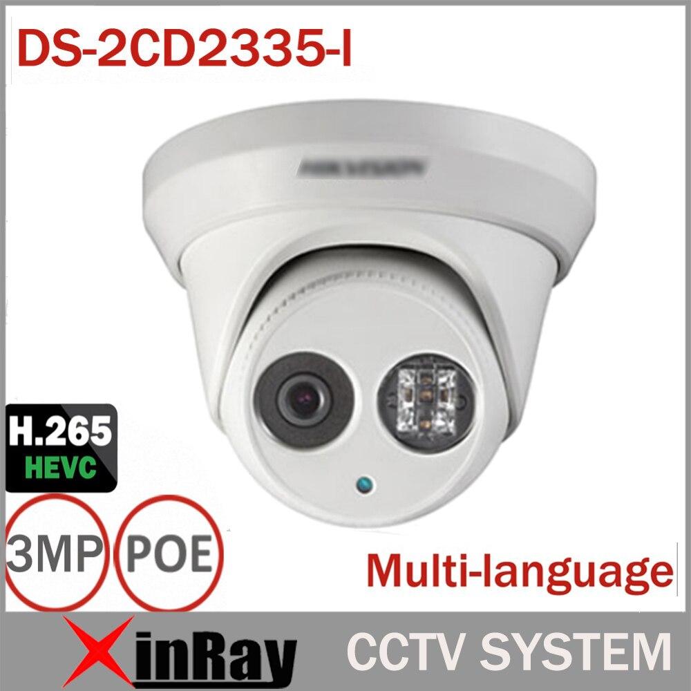 imágenes para Hikvsion DS-2CD2335-I Reemplazar DS-2CD2332-I ONVIF POE Cámara IP 3MP Cámara de Infrarrojos Cuerpo de Metal CCTV Cámara IP con Lente de 6mm