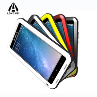 For Xiaomi Max2 Case 360 Full Protection Cover Metal Silicone Gorilla Glass Shockproof Phone Cases for Xiao mi Max3 Armor Shell