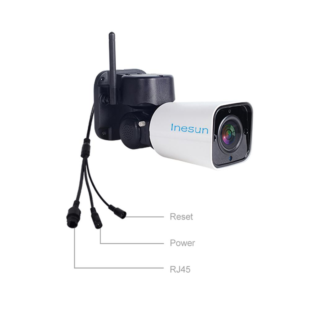 Image 5 - Inesun Outdoor WiFi IP Security Camera 1080P IP Camera WiFi 4X Zoom PTZ Camera 120ft IR Night Vision Two Way Audio 128G SD Card-in Surveillance Cameras from Security & Protection