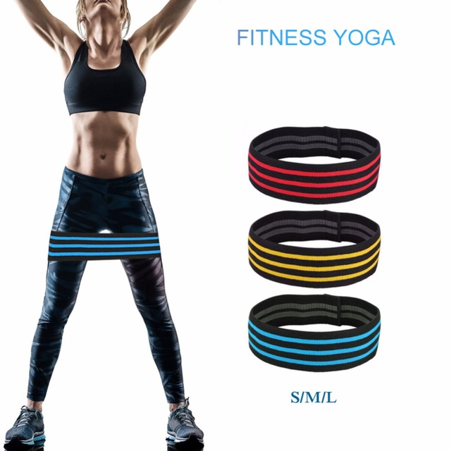 Power Hips Fitness Resistance Bands Yoga Workout Glutes Leg Exercise