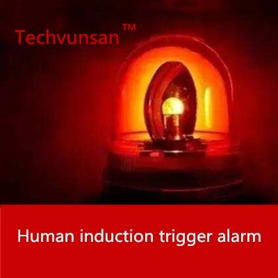 prision theme escape room game human body induction prop body close to trigger alarm light props