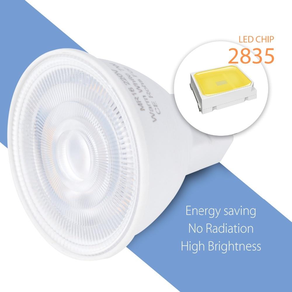 MR16 Spotlight 220V LED Lamp GU10 LED Corn Bulb GU5 3 Spot Light 2835 Focos Led Techo 5W 7W Lampada Led Energy Saving Light 240V in LED Bulbs Tubes from Lights Lighting