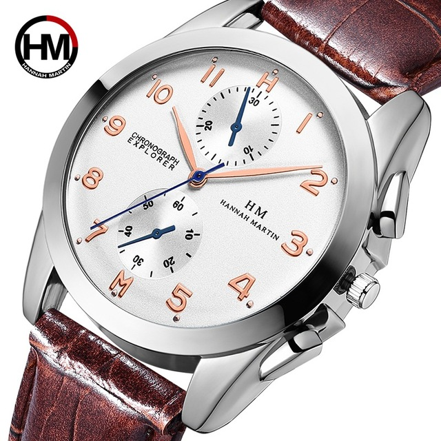 Real Quartz Watch Men New Hot Dropshipping Waterproof Sports Male Montre Homme T