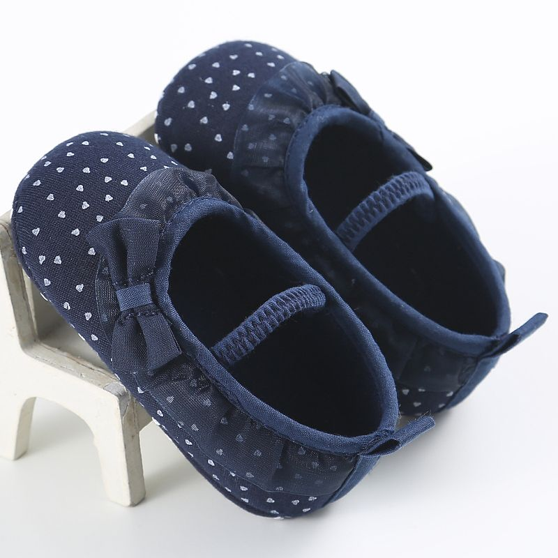 New Toddler Newborn Princess Kids Baby Girl Casual Soft Lace Cotton Shoes Prewalker