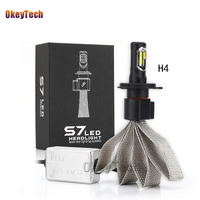 OkeyTech 1PCS H4 S7 Led Car Headlight 36W 12V 4000LM Lamp Bulb Car External Fog Light