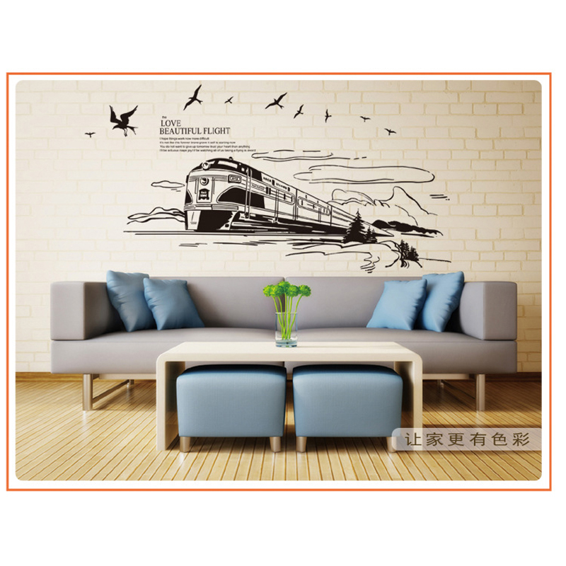 1pcs Train Wall Decor Art Stickers Living Room Sofa TV Background Hall Bedroom Bathroom Home Accessories. Compare Prices on Train Bathroom Decor  Online Shopping Buy Low