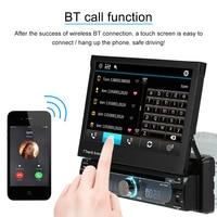 7 Universal Detachable Car Radio 1Din Audio Stereo Multimedia DVD Player Touchscreen BT AM/FM USB SD