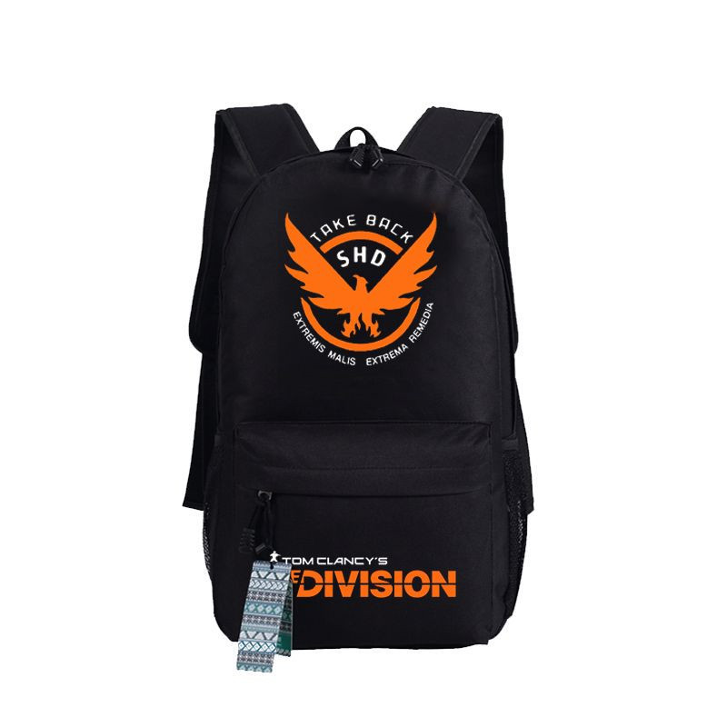 Tom Clancy's The Division Game Backpack Bag Students School Laptop Book Shoulder Bag Cosplay Gift game of thrones backpack students school bag fire glow in light backpack book bag for teenagers cartoon shoulder bag casual bag