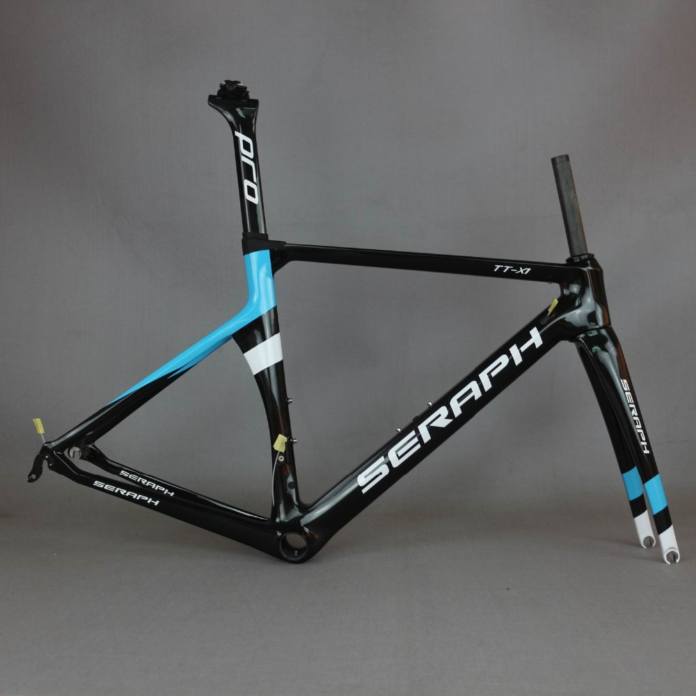 SERAPH painting carbon bicycle frame Custom painting OEM products road carbon frame TT X1 frame TanTan