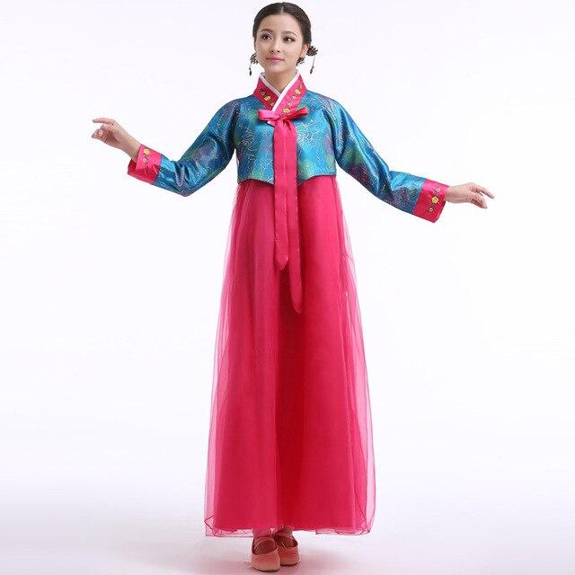 eb6ed9d05eb7 New Coreano Hanbok Vestiti Convenzionali Asia Tradizionale Vestiti Donna  Abiti abbigliamento Abiti Da Ballo Cantante Costume
