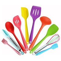 Hot 10Pc Heat Resistant Silicone Cookware Set Nonstick Cooking Tools Kitchen & Baking Tool Kit Utensils