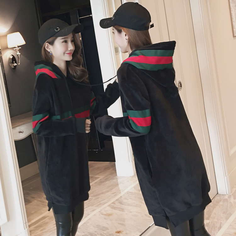 2017 new Hooded Dress Code in the long sleeved sweater jinsirong maternity womens autumn and winter ...
