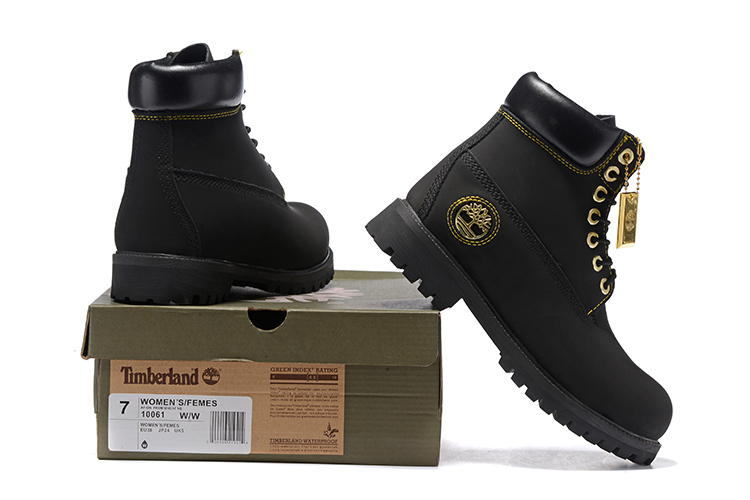 TIMBERLAND Men All Black Gold Metal Ankle Martin Motorcycle Boots,Man high-top Leather Spring Wearable Casual Walk Shoes 40-45 3
