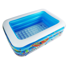 High Quality 150x110x48cm large size Plastic Inflatable Square Blue underwater world pattern swimming pool Ocean ball pool все цены