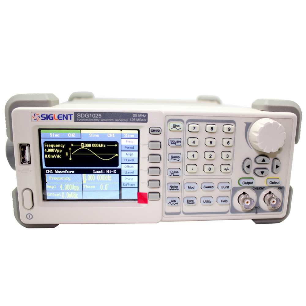 Siglent SDG1025 Function/Arbitrary Waveform Generator, 25MHz, 125MSa/s Sample Rate Free Shipping  осциллограф siglent sds1152cml 2 150 1 sa