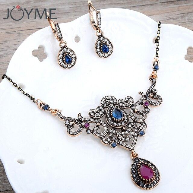 2018 Vintage Wedding Jewelry Sets for Women Bib Necklace Earring Set