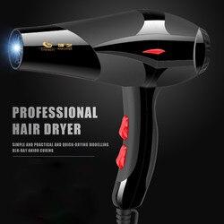 Profissional secador de cabelo plug ue 2100 w preto secador de cabelo ajustável configurações calor pro salão ionic cerâmica secador frete grátis