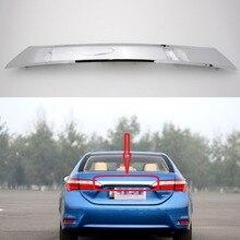 1 шт. хромированная Задняя Крышка багажника Крышка двери багажника Накладка Обшивка формовочная крышка 76801-02E70 для TOYOTA Corolla