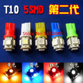Hot car LED 100x T10 194 168 360 W5W Wedge grau 5 SMD 5050 LED bulb XENON White Car taillight License plate lamp Reading lamp