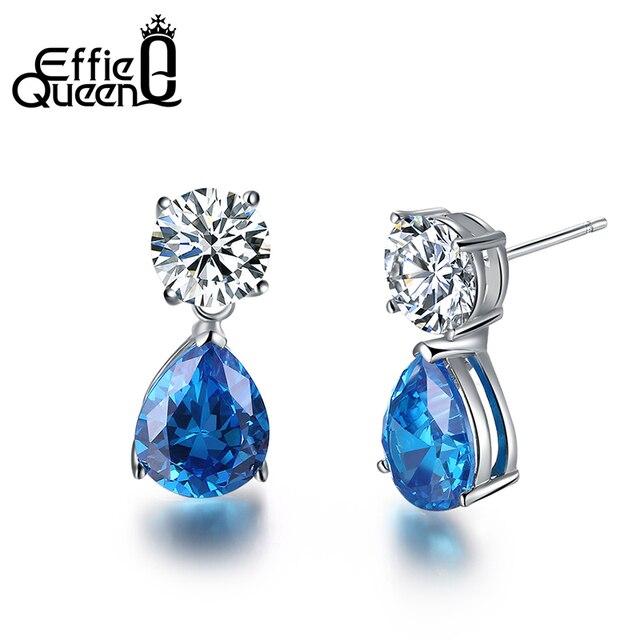 Effie Queen Starlite Aaa Austrian Crystal Teardrop Earrings Bridal Large Drop For Women Fashion Wedding