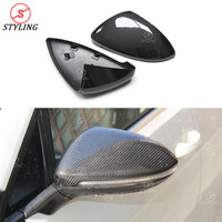 Dry Carbon Mirror For Volkswagen Golf7 Mk7 Carbon Fiber Mirror Cover Rear Side View Replacement Style 2013 2014 2015 2016 2017
