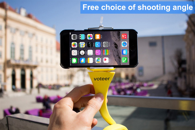Voteer flexible selfie stick monopod wireless Bluetooth tripod monkey holder for GoPro iPhone camera phone car bicycle universal 4