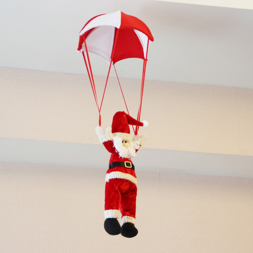 24cm Christmas Home Ceiling Decorations Parachute Santa Claus Smowman Hanging Pendant Decoration Supplies In Party DIY From
