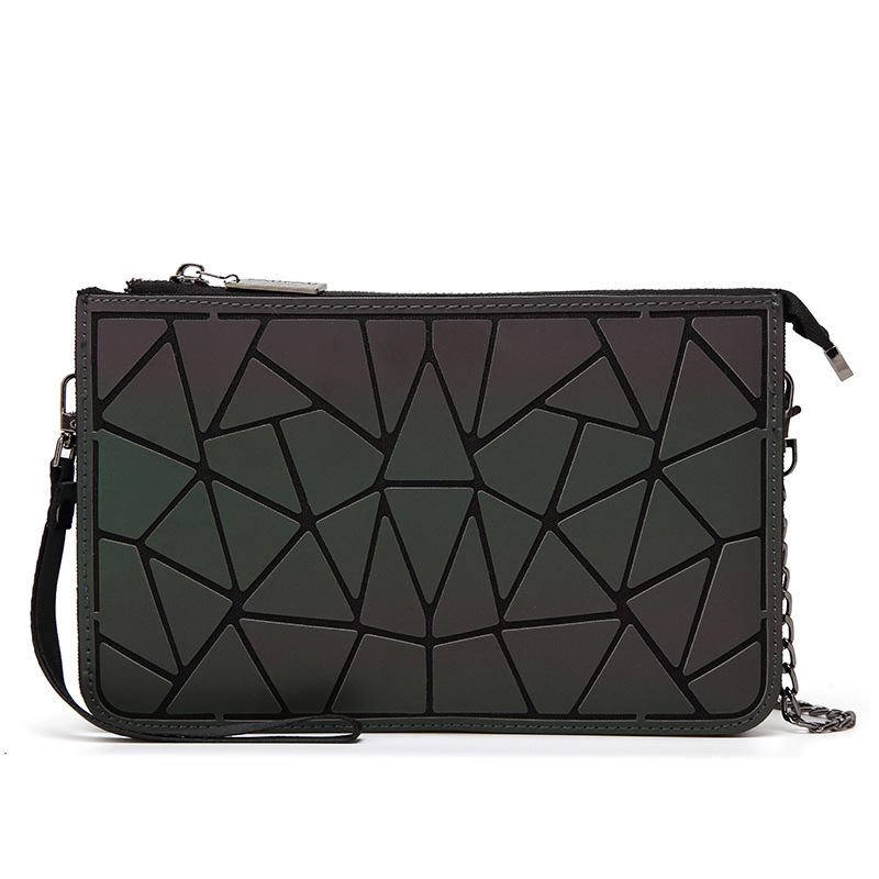 2018 Men Geometry Bao Bag New Hologram Laser Handbags Fashion Chain luminous Clutch Totes Crossbody Bags for Women Wallet ...