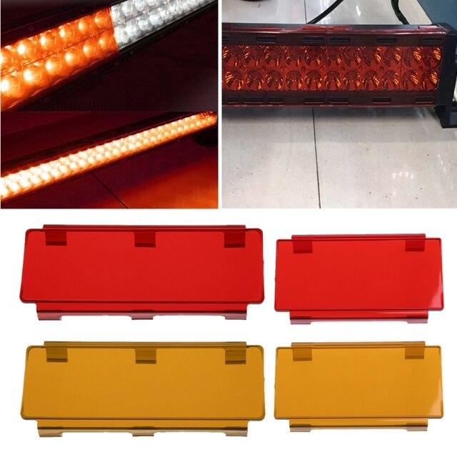 1pc 68 plastic hoods car led work light bar cover amber clear red 1pc 68 plastic hoods car led work light bar cover amber clear aloadofball Images