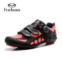 TIEBAO Carbon Fiber Road Cycling Shoes Mens Outdoor Sport Bike Bicycle Sneaker Highway Road Bike Self locking Road Bike Shoes