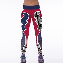New 129 Sexy Girl Jogging Leggings Comics football rugby Wish 99 team Prints High Waist Running Fitness Sport Women Yoga Pants
