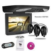 11,3 HD Автомобильный отвесной монитор на Крыше Установлен dvd плеер, 1280*800 вращающийся экран 270 потолочный монитор DVD USB SD игры
