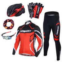 Pro équipe cyclisme vêtements hommes à manches longues vélo Jersey ensemble Sport vtt porter à séchage rapide hommes vélo de route vêtements homme équitation costume