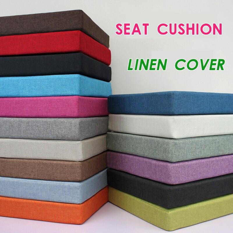 New Linen Cushion Foam Lumbar Pain Relief Cushion Office Chair Seat Cushion Sofa