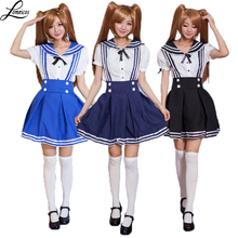 Sexy School Girls Sailor Costumes Cosplay For Woman And Girl Halloween Party Costume Cosplay Size S-L(China)