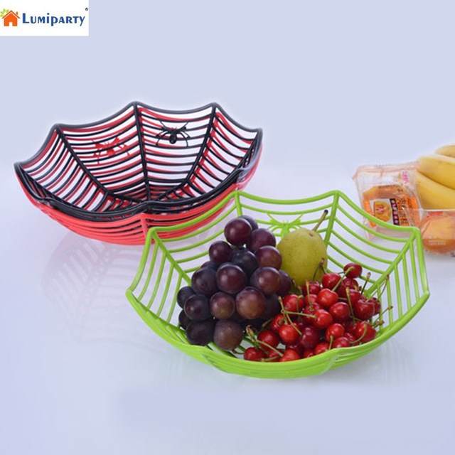 LumiParty Spider Web Fruits Candy Basket Plastic Spiderweb Bowl Halloween Party Decor-25  sc 1 st  AliExpress.com & LumiParty Spider Web Fruits Candy Basket Plastic Spiderweb Bowl ...